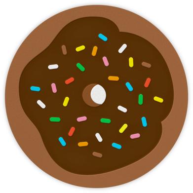 Donut - Brown - The Indigo Bunting - Birthday invitations