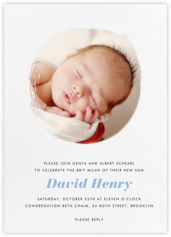 Painted Circle - Paperless Post - Bris and baby naming invitations