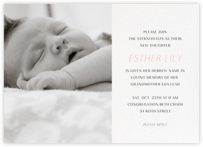 Photo Spread - White - Paperless Post - Bris and baby naming invitations