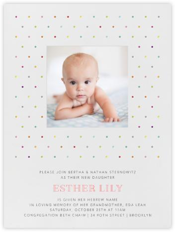 Polka Dots - bluepoolroad - Bris and baby naming invitations