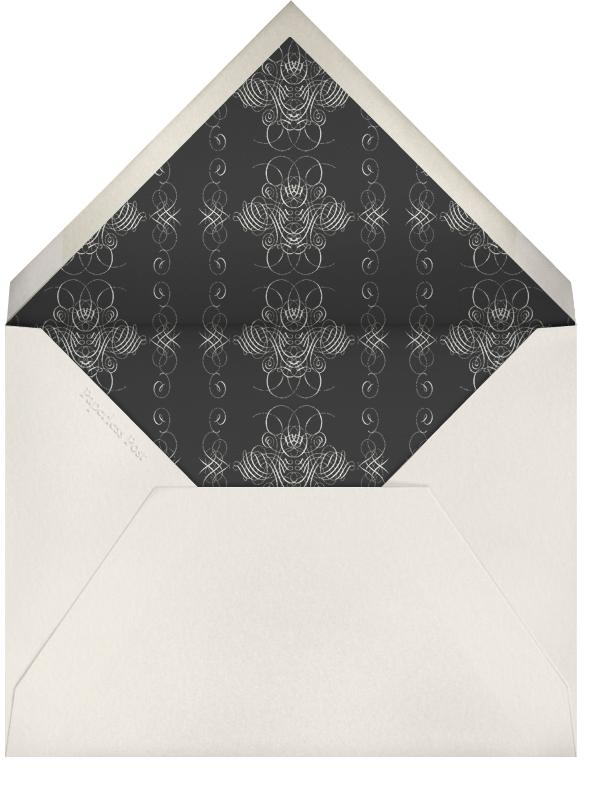 You're Invited - Cream Flourished - Bernard Maisner - Adult birthday - envelope back