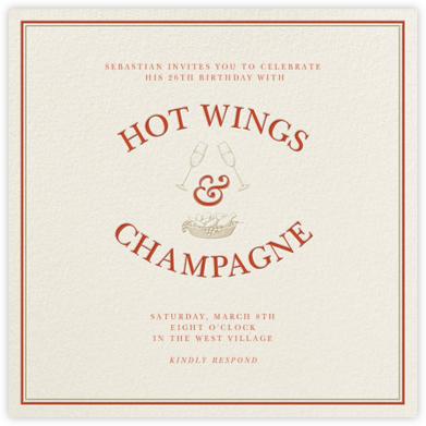 Hot Wings and Champagne - Derek Blasberg