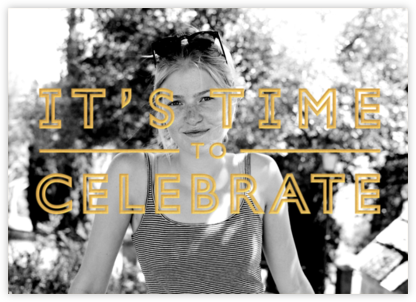 It's Time To Celebrate - Apricot - Paperless Post -