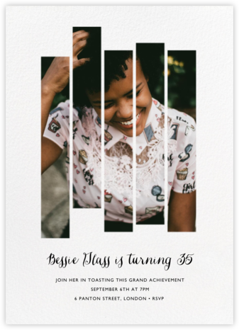 Five Dancing Photo Strips - Paperless Post - Adult Birthday Invitations