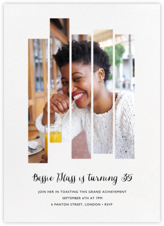 Five Dancing Photo Strips - Paperless Post - Invitations