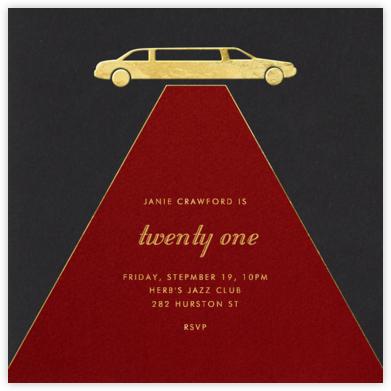 Red Carpet - Paperless Post - Adult Birthday Invitations
