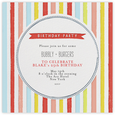 Chocolate or Vanilla Ice Cream - Brights - Mr. Boddington's Studio - Adult Birthday Invitations