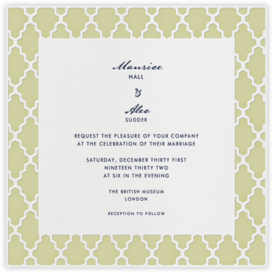 Marrakesh - Endive (Square) - Paperless Post - Wedding Invitations