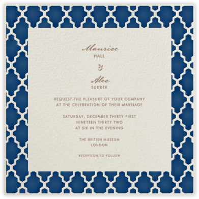 Marrakesh - Dark Blue (Square) - Paperless Post - Wedding invitations