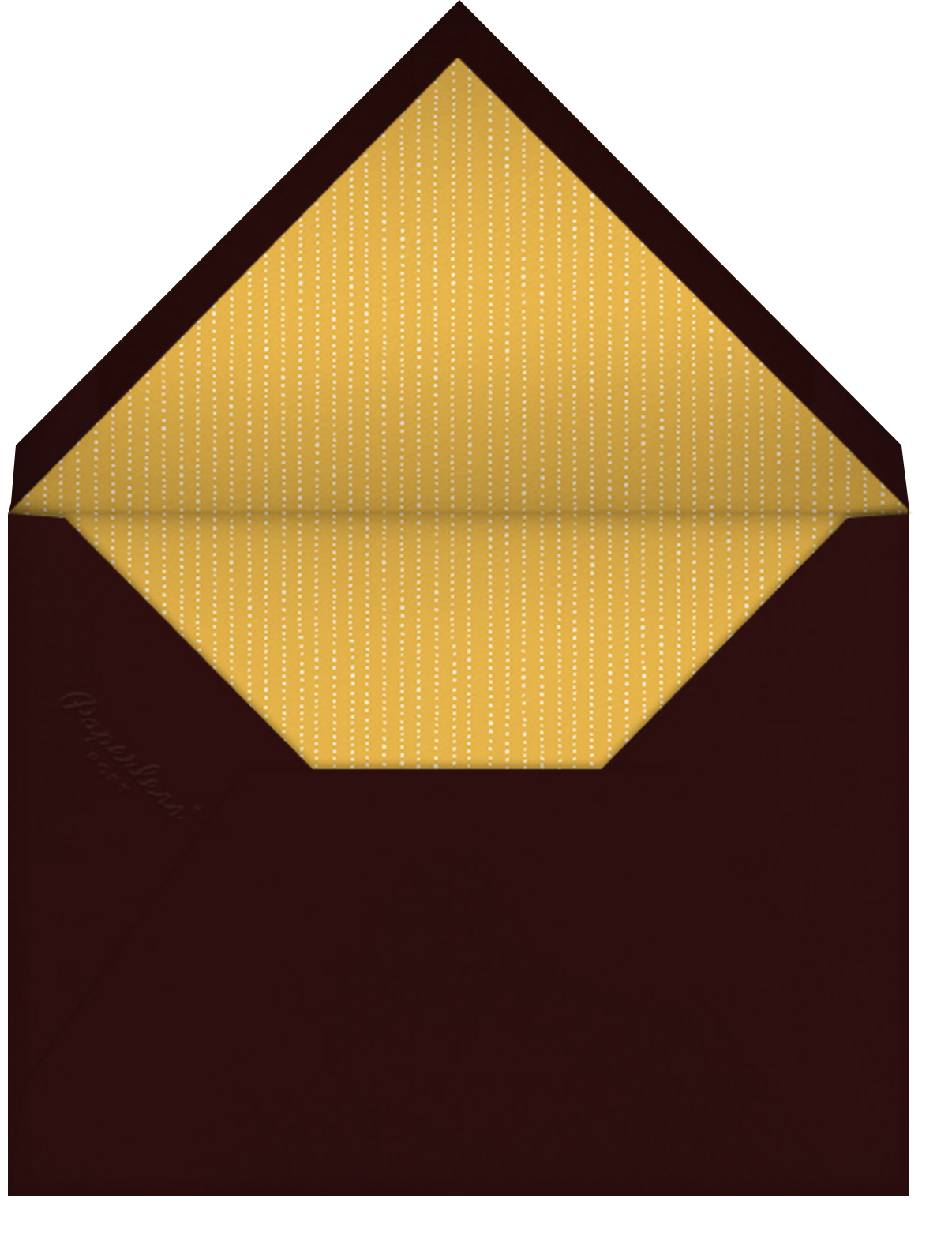 Forsythia - Mahogany - Paperless Post - All - envelope back