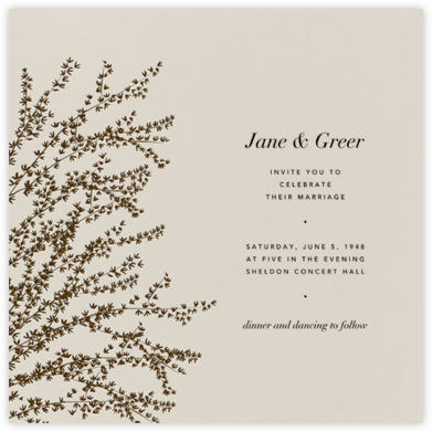 Forsythia - Mahogany - Paperless Post - Wedding Invitations