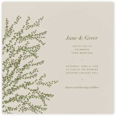 Forsythia - Olive - Paperless Post - Wedding Invitations