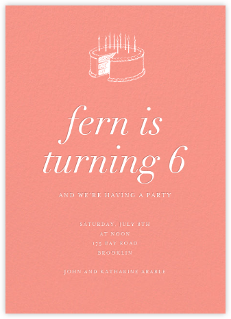 Papaya (Tall) - Paperless Post - Kids' birthday invitations