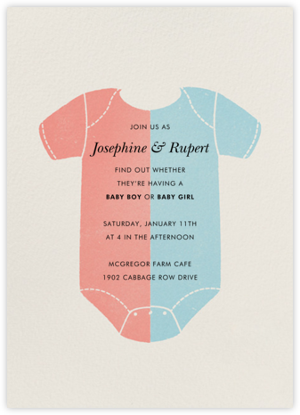 Two-Tone Onesie - Paperless Post - Invitations