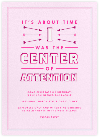 Center of Attention - Pink - Derek Blasberg -