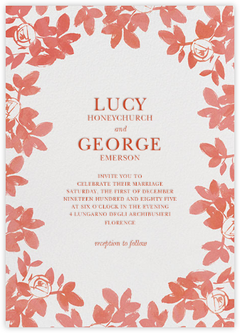 Gloria - Papaya - Paperless Post - Wedding Invitations