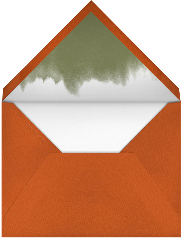 Poppies (Thank You) - Pumpkin - Paperless Post - Personalized stationery - envelope back