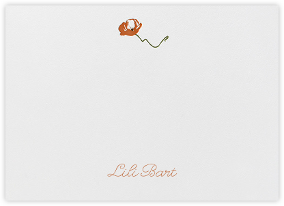 Poppies (Thank You) - Pumpkin - Paperless Post - Stationery
