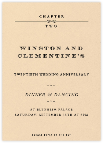 A New Chapter - Paperless Post - Anniversary party invitations