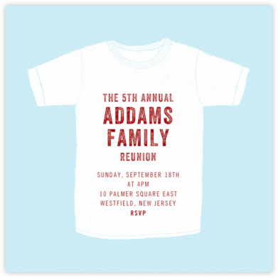 White T-Shirt - Paperless Post - Reunion Invitations