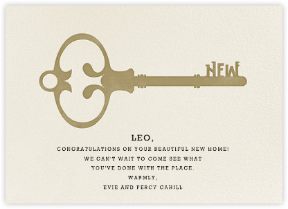 House Key - Paperless Post - Congratulations cards