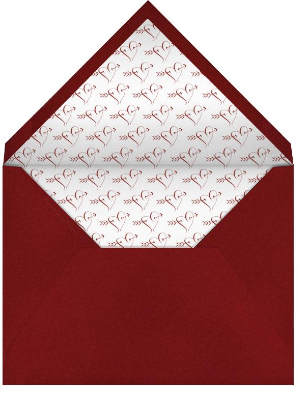Love You - Crimson - Bernard Maisner - Love cards - envelope back