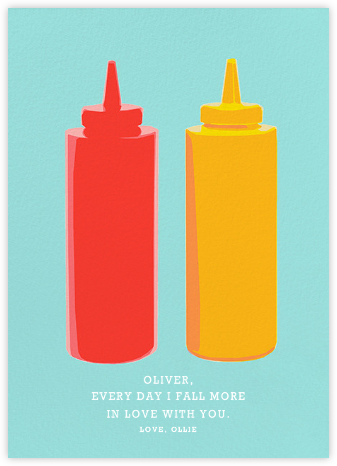 Ketchup and Mustard - Hannah Berman - Love and romance cards