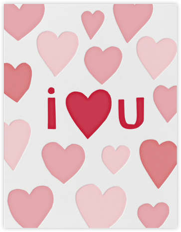 I Heart U - Linda and Harriett - Love and romance cards