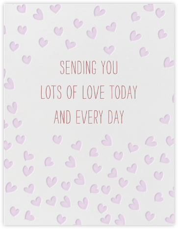 Sending Hearts - Linda and Harriett - Just Because Cards