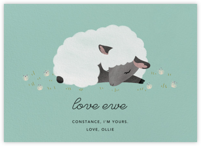 Love Ewe - Celadon - Paperless Post - Love Cards