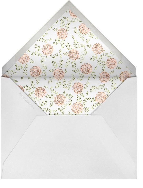Dahlias (Thank You) - Pumpkin  - Paperless Post - Sympathy - envelope back