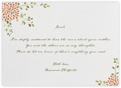 Dahlias (Thank You) - Pumpkin  - Paperless Post - Online Greeting Cards