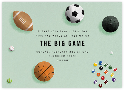 Sports Balls - Paperless Post - Get-together invitations