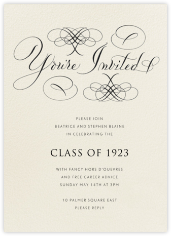 You're Invited - Cream Flourished  | tall