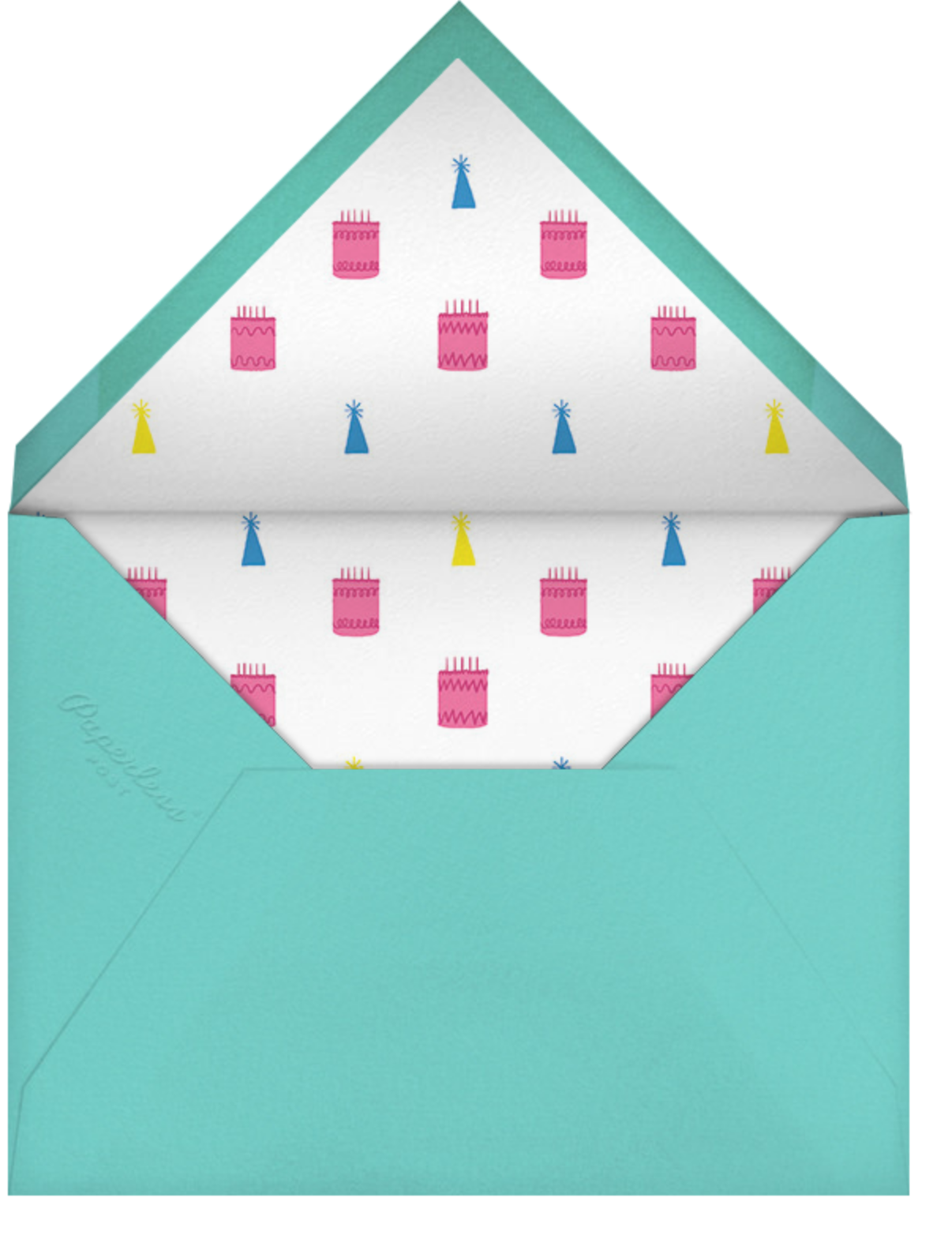 Square Centered - Tiffany - Paperless Post - Adult birthday - envelope back