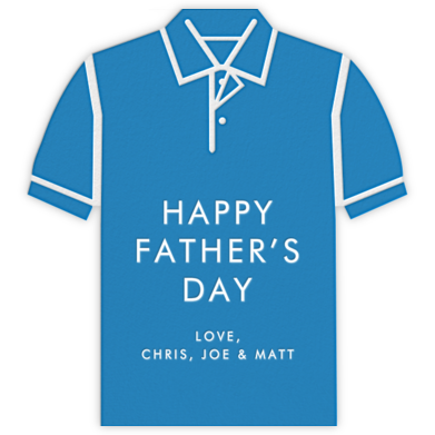 Polo - Blue - Jonathan Adler - Father's Day Cards