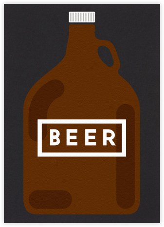 Beer Growler  - The Indigo Bunting - Father's Day cards