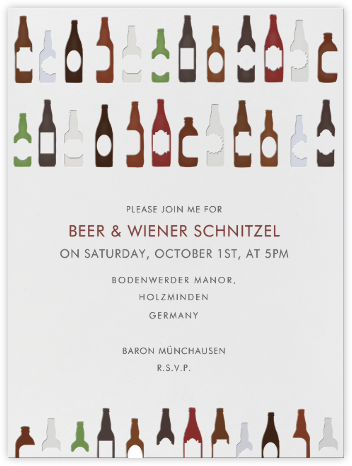99 Bottles - Paperless Post - Oktoberfest invitations
