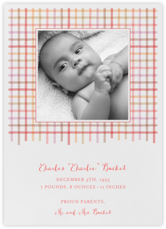 Tattersall - Blossom - Paperless Post - Birth Announcements