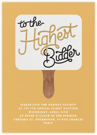 The Highest Bidder - Paperless Post - Business event invitations