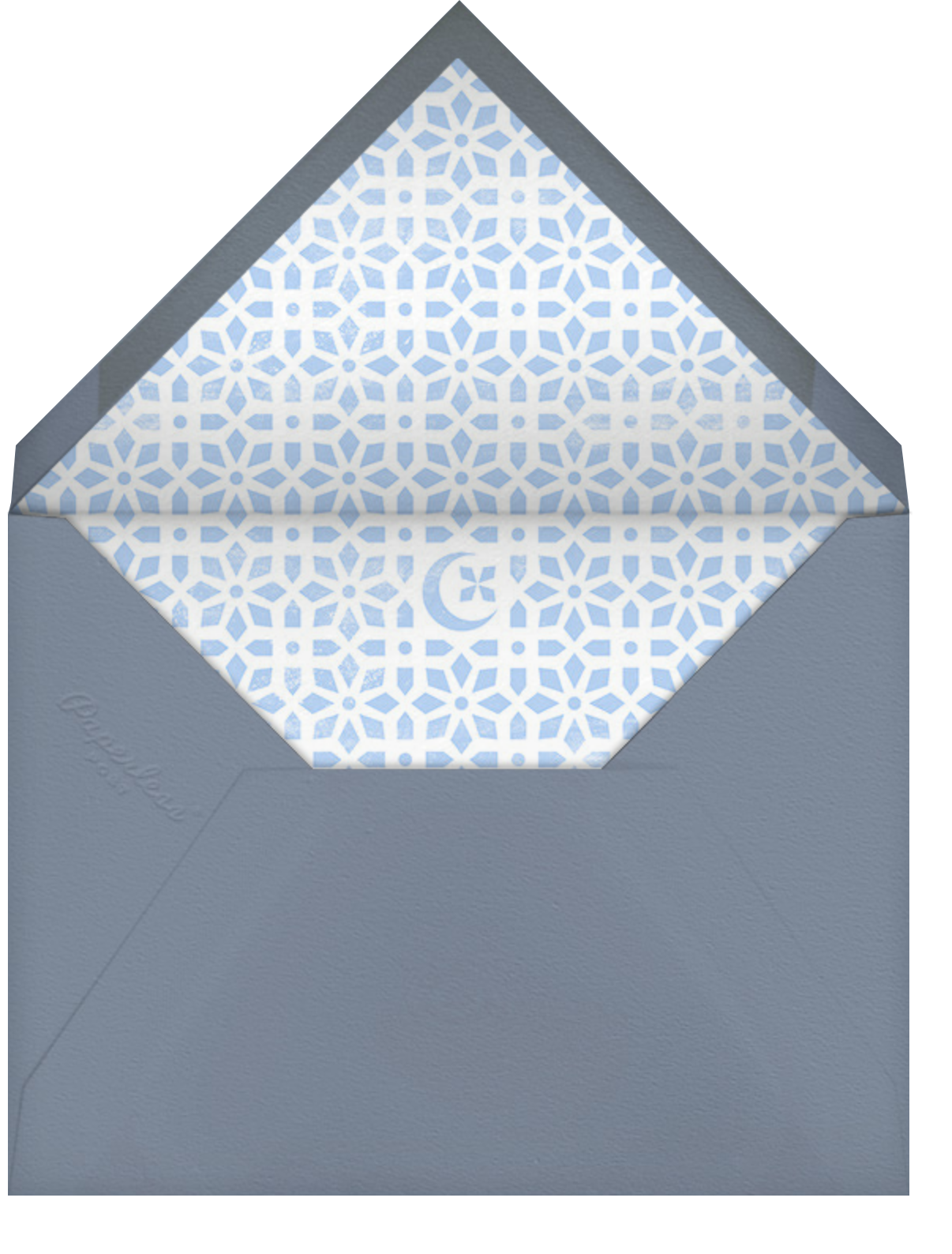 Jali - Woodgrain - Paperless Post - Ramadan - envelope back