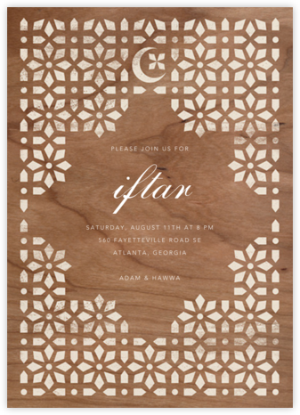 Jali - Woodgrain - Paperless Post - Ramadan and Eid invitations