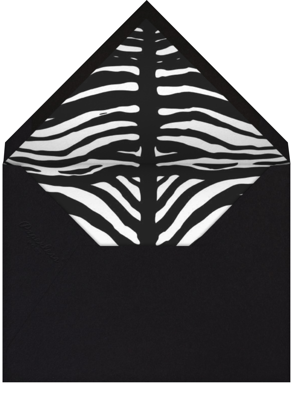 Zebras - Paperless Post - Adult birthday - envelope back