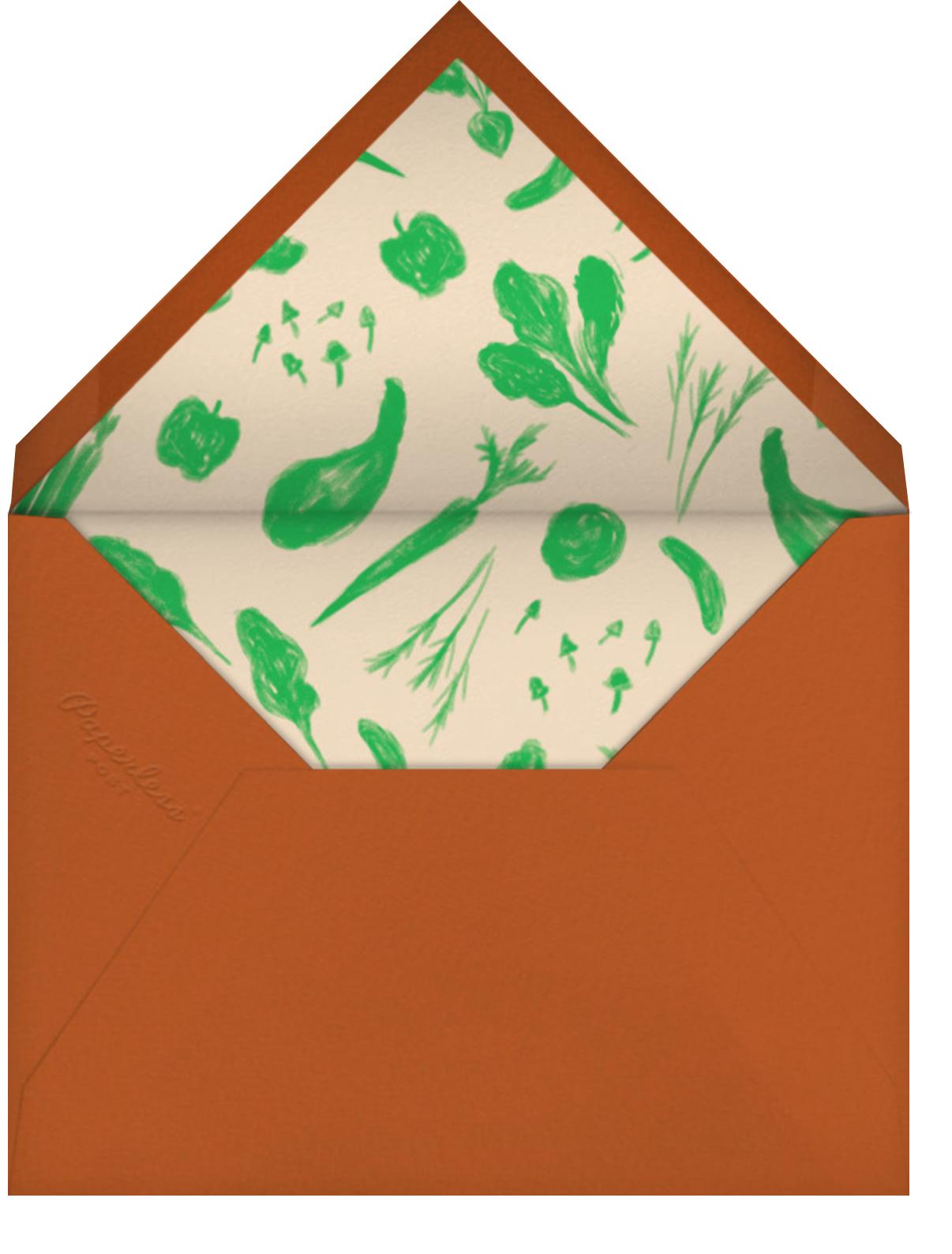 Farmer's Market Brunch - Crate & Barrel - Brunch - envelope back
