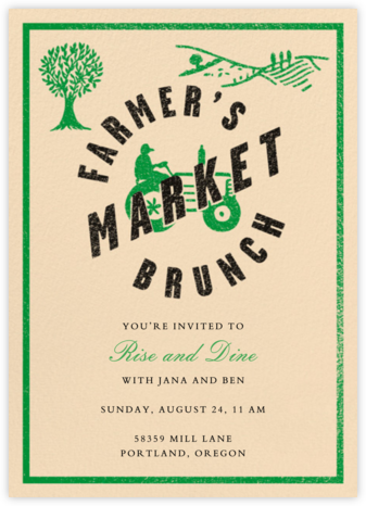 Farmer's Market Brunch - Crate & Barrel - Brunch invitations