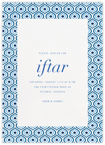 Florianopolis - Blue - Paperless Post - Ramadan and Eid invitations