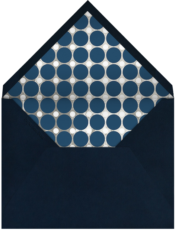 Polka - Navy and Silver - Jonathan Adler - Ramadan - envelope back