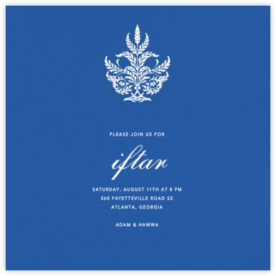 Lapis Lazuli (Square) - Paperless Post - Ramadan and Eid invitations