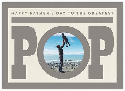 To The Greatest Pop - Grey - The Indigo Bunting - The Indigo Bunting Cards