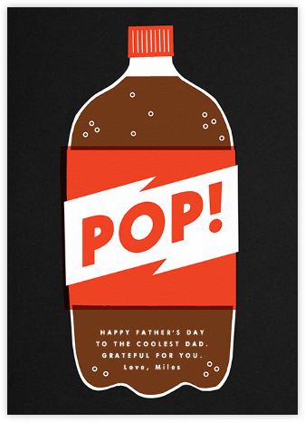Bottle of Pop - The Indigo Bunting - Father's Day Cards